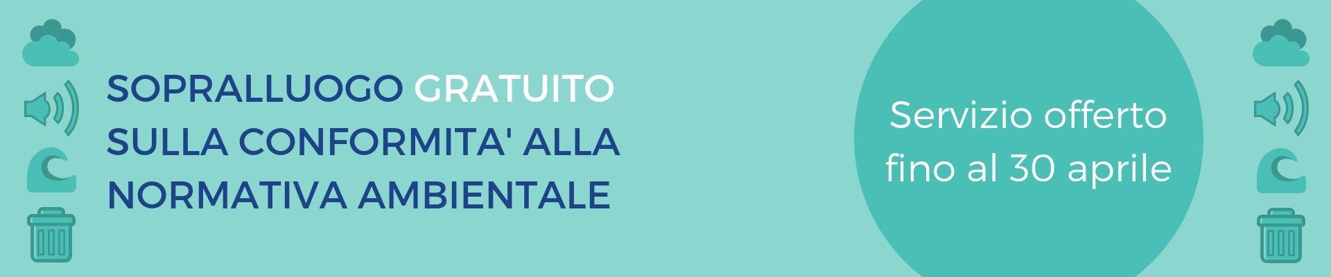 CONTROLLO GRATUITO SULLA NORMATIVA AMBIENTALE